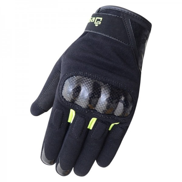 GUANTES DEGEND DISCOVERY NEGRO FLUOR