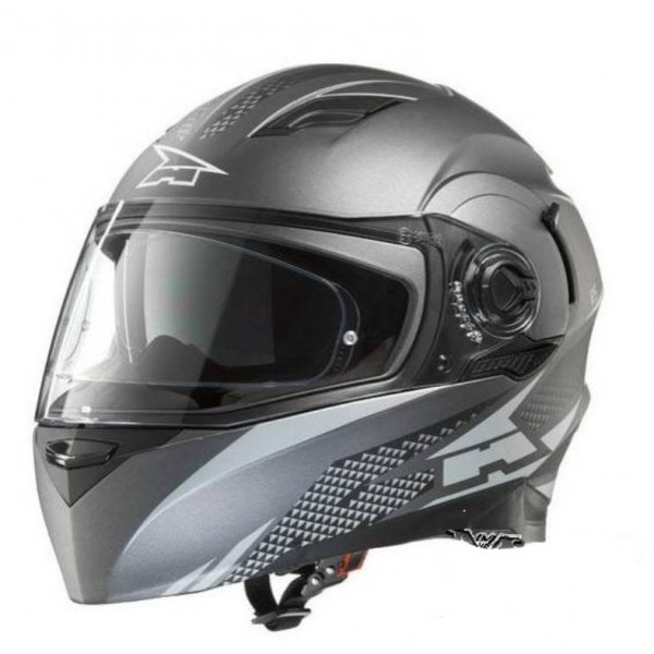 CASCO AXO INTEGRAL RS01 NEGRO-GRIS