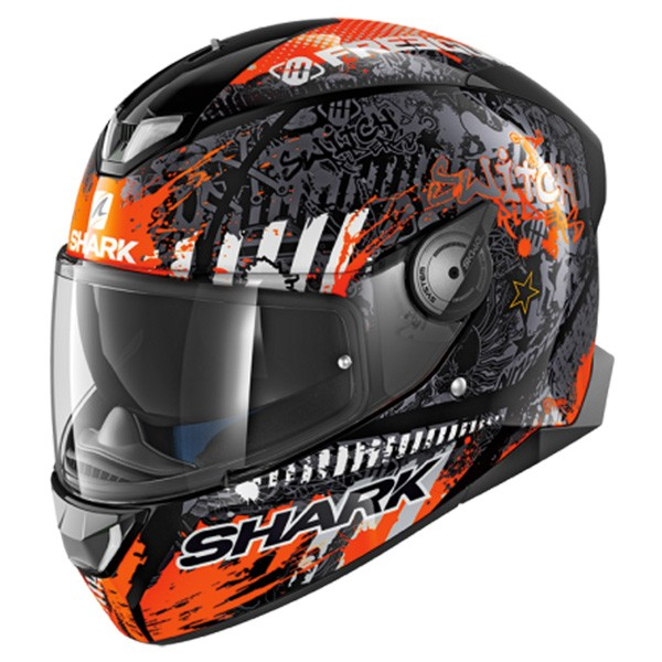 CASCO SHARK SKWAL 2 SWITCH RIDERS NARANJA