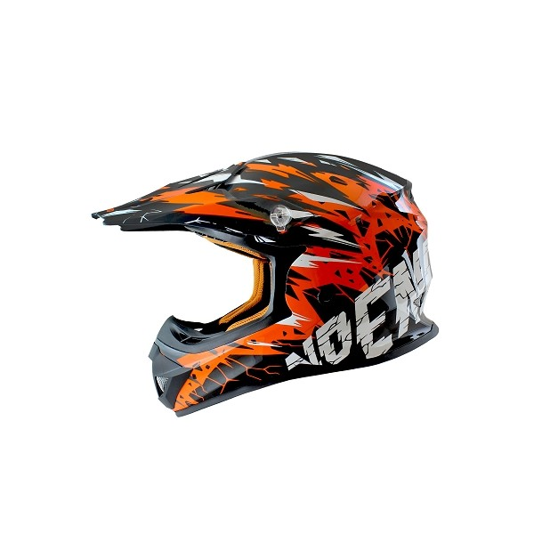 CASCO NOEND INFANTIL CRACKED JUNIOR NARANJA