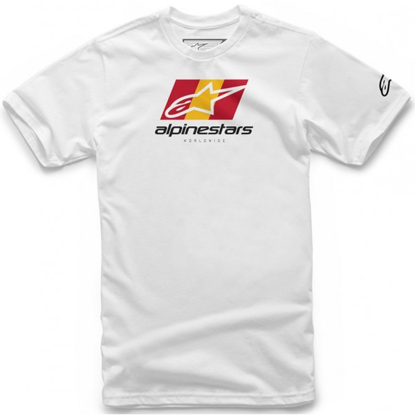 CAMISETA ALPINESTARS CASUAL WORLD TOUR BLANCO