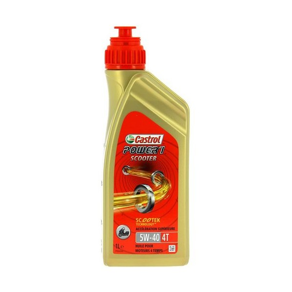 ACEITE CASTROL POWER1 SCOOTER 4T 5W40 1L